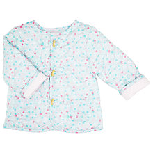 Buy John Lewis Baby's Floral Quilted Jacket, Blue Online at johnlewis.com