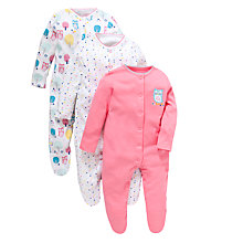 Buy John Lewis Baby Owl Sleepsuit, Pack of 3, Multi Online at johnlewis.com