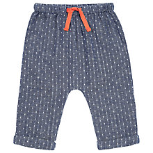 Buy Kin by John Lewis Chambray Hareem Trousers, Navy Online at johnlewis.com