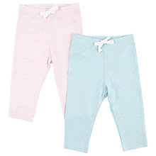 Buy John Lewis Baby's Spots and Stripes Jogging Bottoms, Pack of 2, Pink/Blue Online at johnlewis.com