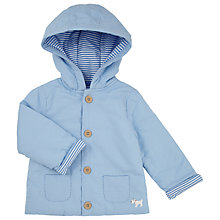 Buy John Lewis Baby Stripe Jacket, Blue Online at johnlewis.com