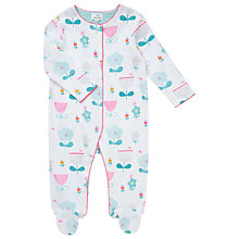 Buy John Lewis Baby Floral Sleepsuit, Multi Online at johnlewis.com