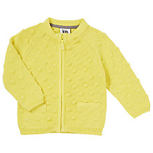 Buy Kin by John Lewis Baby's Knit Bubble Cardigan, Yellow Online at johnlewis.com