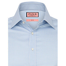 Buy Thomas Pink Watling Large Houndstooth Shirt, Sky Blue/White Online at johnlewis.com