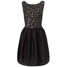 Buy Ariella Freya Beaded Prom Short Dress, Black Online at johnlewis.com