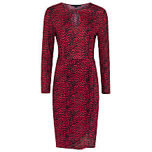 Buy French Connection Wild Cat Long Sleeve Dress, Royal Scarlet Multi Online at johnlewis.com