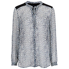 Buy French Connection Wild Cat Printed Shirt, Morning Frost Multi Online at johnlewis.com