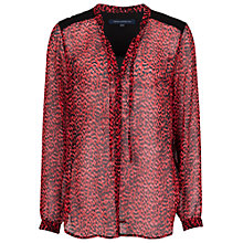 Buy French Connection Wild Cat Printed Shirt, Royal Scarlet Multi Online at johnlewis.com