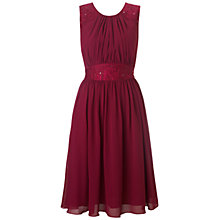 Buy Ariella Alia Chiffon Midi Dress, Wine Online at johnlewis.com