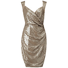Buy Ariella Florence Sequin Pencil Dress, Gold Online at johnlewis.com