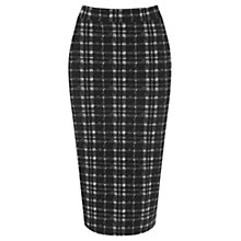 Buy Oasis Tartan Tube Skirt, Black/White Online at johnlewis.com