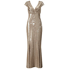 Buy Ariella Venetia Sequin Long Dress, Gold Online at johnlewis.com