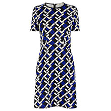Buy Oasis Geo Texture Print Shift Dress, Multi Online at johnlewis.com