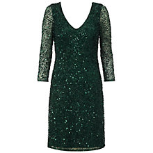 Buy Ariella Rosanna Long Sleeve Dress, Emerald Online at johnlewis.com