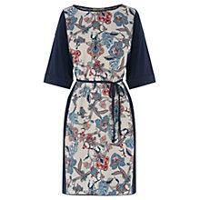 Buy Oasis Tapestry Folk Print T-Shirt Dress, Multi Blue Online at johnlewis.com
