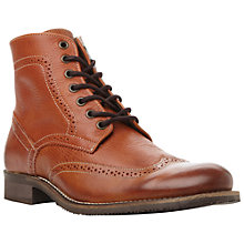 Buy Dune Chancer Wingtip Boots, Tan Online at johnlewis.com
