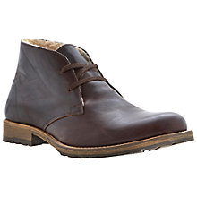 Buy Dune Columbo Leather Chukka Boots, Dark Brown Online at johnlewis.com