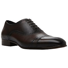 Buy Dune Roberto Leather Oxford Shoes, Brown Online at johnlewis.com