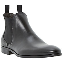 Buy Dune Muggles Leather Chelsea Boots, Black Online at johnlewis.com