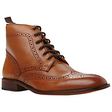 Buy Dune Marble Arch Leather Brogue Boots, Tan Online at johnlewis.com