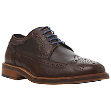 Buy Bertie Bethnal Green II Leather Brogue Shoes, Brown Online at johnlewis.com