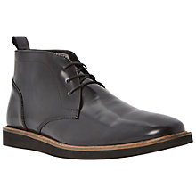 Buy Dune Cluster Leather Chukka Boots, Black Online at johnlewis.com