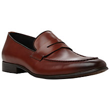 Buy Dune Racehorse Rolled Apron Leather Penny Loafers, Tan Online at johnlewis.com
