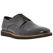 Buy Dune Buster Leather Derby Shoes, Black Online at johnlewis.com