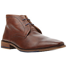 Buy Dune Mandrake Leather Chukka Boots, Brown Online at johnlewis.com
