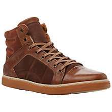 Buy Dune Sanderson Hi-Top Trainers, Tan Online at johnlewis.com