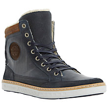 Buy Dune Sonny Hi-Top Trainers, Navy Online at johnlewis.com