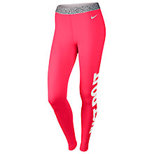 Buy Nike Pro Hyperwarm Mezzo Waistband Compression Tights, Hyper Punch/Ivory Online at johnlewis.com