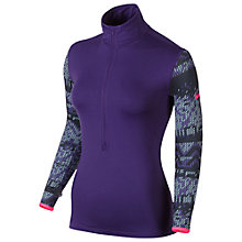Buy Nike Pro Hyperwarm Fitted Nordic Half-Zip Top, Court Purple/Hyper Pink Online at johnlewis.com