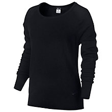 Buy Nike Epic Crew Training Top, Black Online at johnlewis.com