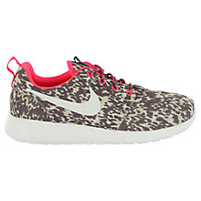 Buy Nike Roshe Run Trainers, Pink Online at johnlewis.com