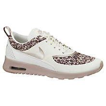 Buy Nike Air Max Thea Premium Women's Cross Trainers, Sail/Medium Orewood Brown Online at johnlewis.com