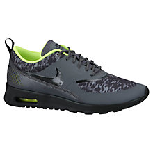 Buy Nike Air Max Women's Thea Premium Cross Trainers, Dark Grey/Black Volt Online at johnlewis.com