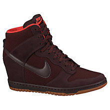 Buy Nike Dunk Sky Hi Mesh Women's Shoes, Deep Burgundy Online at johnlewis.com