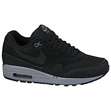 Buy Nike Air Max 1 Essential Leather Women's Trainers, Black Online at johnlewis.com