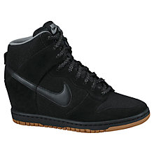 Buy Nike Dunk Sky Hi Mesh Women's Shoes, Black/Light Ash Online at johnlewis.com