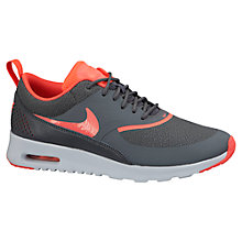 Buy Nike Air Max Thea Premium Women's Cross Trainers, Dark Grey/Hyper Punch Online at johnlewis.com