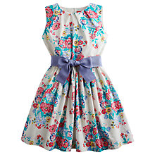 Buy Little Joule Girls' Constance Floral Print Prom Dress, Multi Online at johnlewis.com