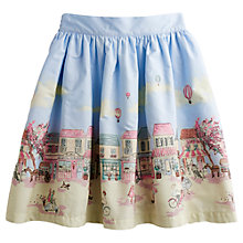 Buy Little Joule Up and Away Border Print Skirt, Multi Online at johnlewis.com