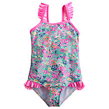 Buy Little Joule Shellie Ditsy Floral Print Swimsuit, Multi Online at johnlewis.com