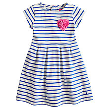 Buy Little Joule Girls' Lara Stripe Heart Corsage Dress, White/Blue Online at johnlewis.com