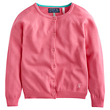 Buy Little Joule Girls' Gail Button Through Fine Knit Cardigan Online at johnlewis.com