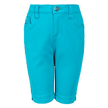 Buy John Lewis Girl Knee Length Shorts, Turquoise Online at johnlewis.com