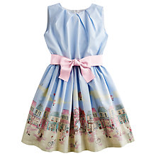 Buy Little Joule Girls' Constance Town Scene Print Dress, Blue/Multi Online at johnlewis.com