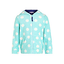 Buy John Lewis Girl Spot Towelling Hoodie Online at johnlewis.com