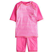 Buy Little Joule Children's Fleta Sun Safe Set, Pink Online at johnlewis.com